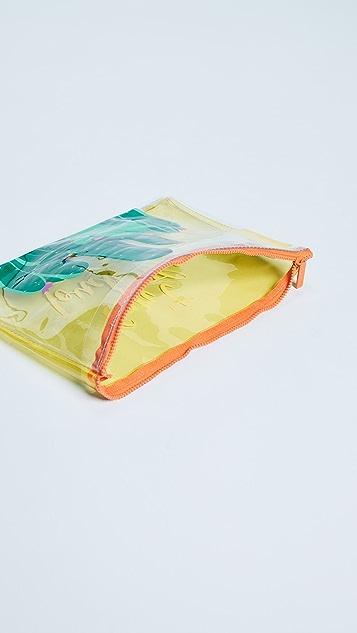SunnyLife Transparent Cactus Beach Pouch