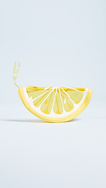 SunnyLife Transparent Lemon Beach Clutch