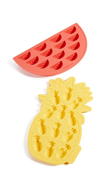 SunnyLife Fruit Salad Ice Tray Set of 2