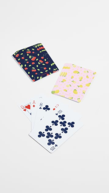 SunnyLife Fruit Salad Beach Playing Cards