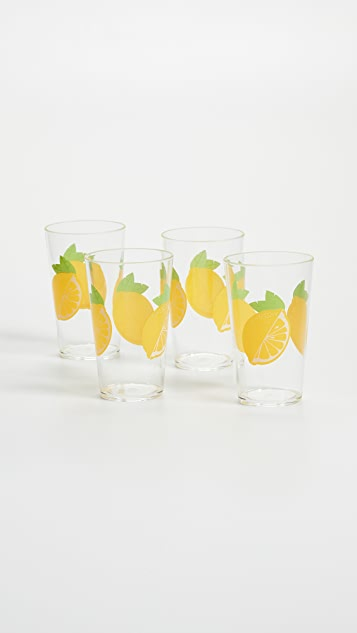SunnyLife Lemon Party Drinkware Set