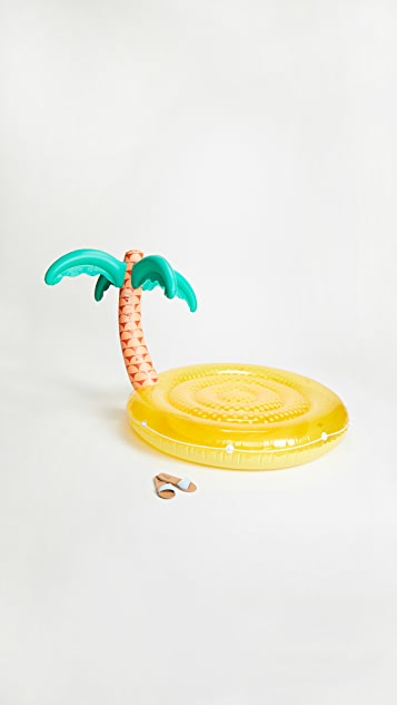 SunnyLife Luxe Twin Round Tropical Island Float
