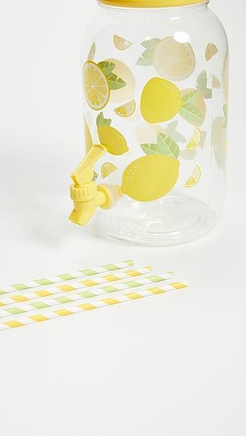 SunnyLife Lemon Drink Drink Dispenser Party Kit