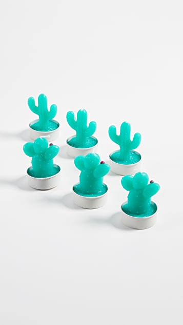 SunnyLife Cactus Tea Lights Set of 6