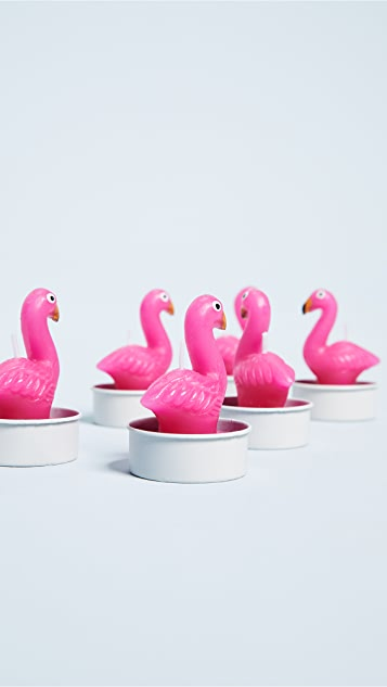 SunnyLife Flamingo Tea Lights Set of 6