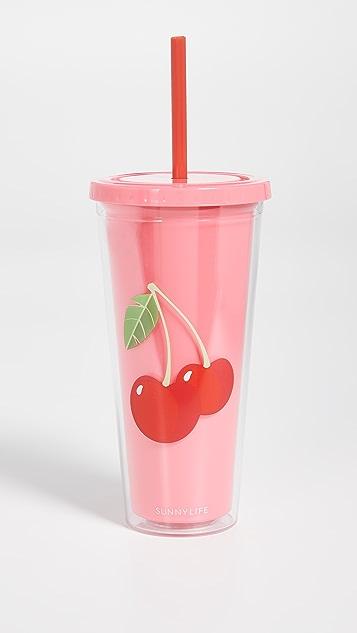 SunnyLife Cherry Tumbler
