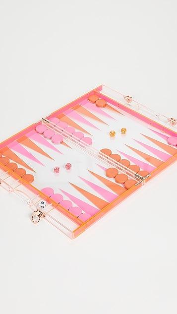 SunnyLife Lucite Backgammon