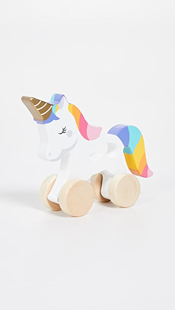 SunnyLife Kid's Unicorn Push N Pull Toy