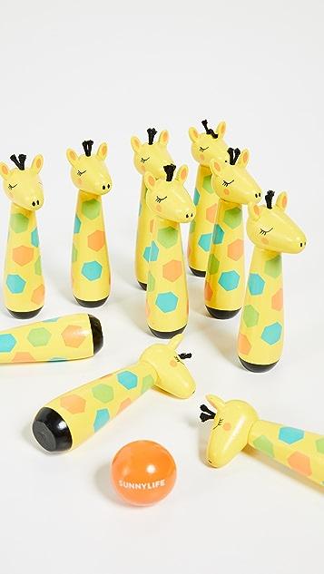 SunnyLife Kid's Giraffe Skittles Bowling Set