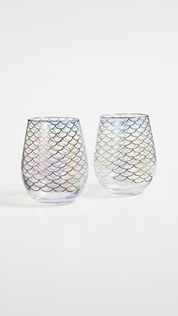 SunnyLife Magical Sea Stemless Cocktail Glasses
