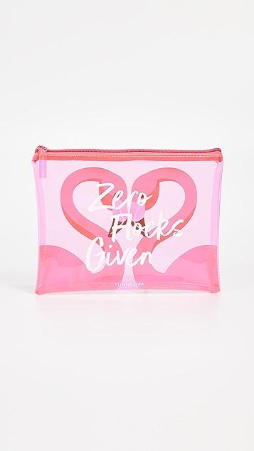 SunnyLife Flamingo See Thru Pouch