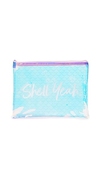 SunnyLife Mermaid See Thru Pouch