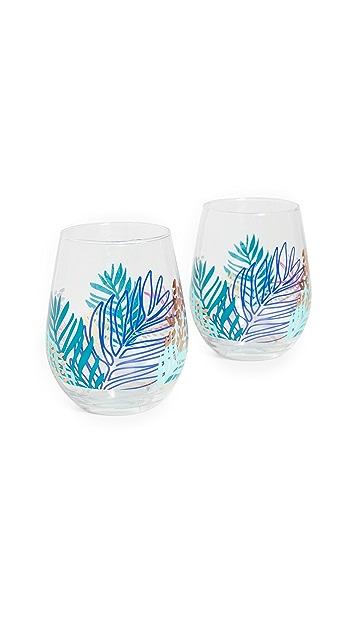 SunnyLife Stemless Cocktail Glasses