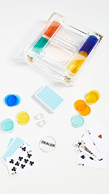 SunnyLife Lucite Poker Set
