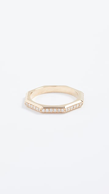 Sorellina 18k Gold Octagon Ring with Diamonds