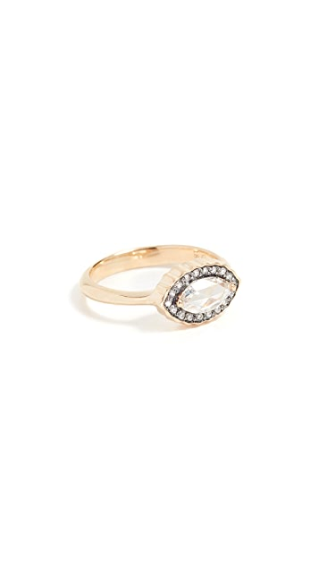 Sorellina 18k Gold Marquise Diamond Ring