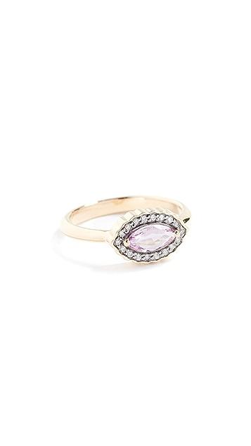 Sorellina 18k Marquise Diamond & Sapphire Ring
