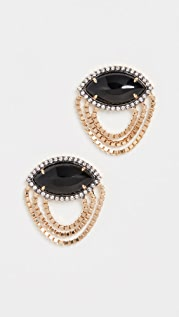 Sorellina 18k Axl Marquise Fringe Earrings