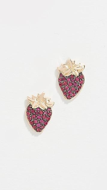 Sorellina 草莓图案耳钉
