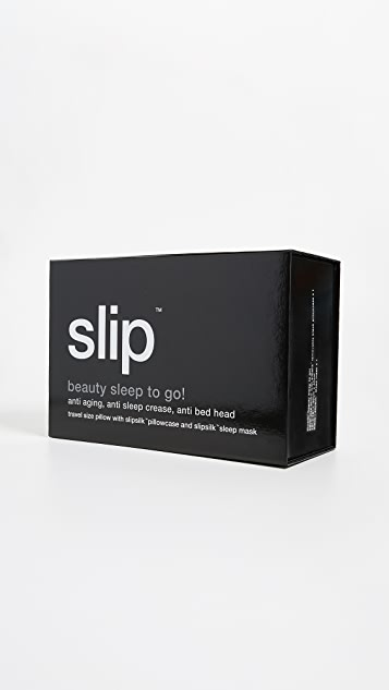 Slip Pure Silk Pillow and Mask Travel Set