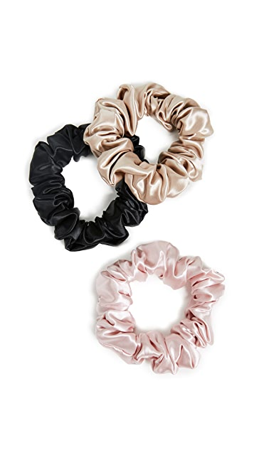 Slip Set of 3 Large Silk Scrunchies