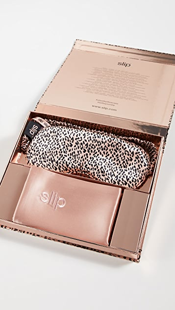 Slip Slip Gift Set - Rose Gold Leopard Beauty Sleep Collection