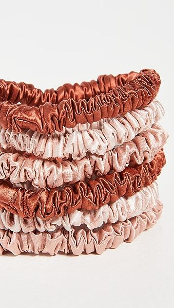 Slip 6 Pack of Skinny Scrunchies