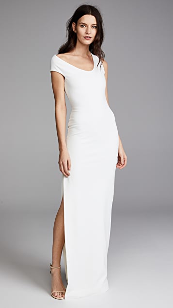 5c31c6b141a Solace London One Shoulder Crepe Dress