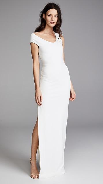 Solace London One Shoulder Crepe Dress