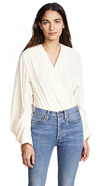 Solace London Odeta Shirt Bodysuit