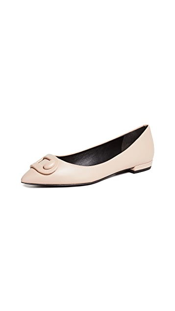 Stella Luna Wrapped Buckle Flats
