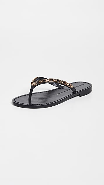Stella Luna Chain Thong Sandals