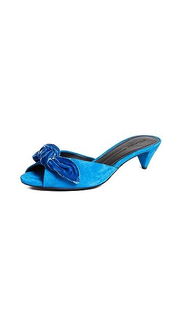 Stella Luna Бархатные туфли без задников с бантом