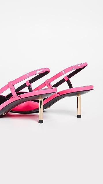 Stella Luna Туфли-лодочки с ремешком на пятке Cigarette