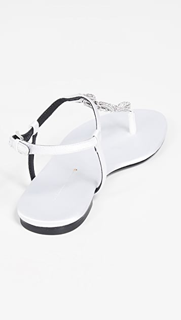 Stella Luna 仿钻平底凉鞋