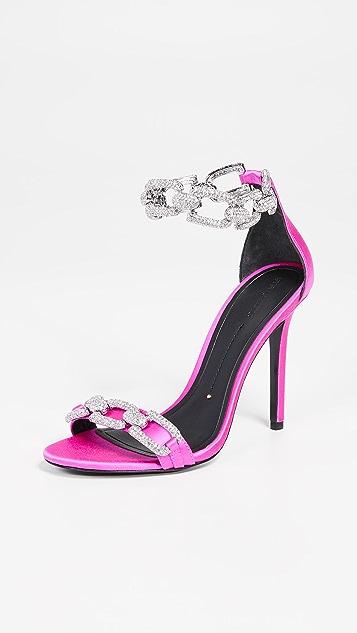Stella Luna Сандалии со стразами на каблуках высотой 105 мм