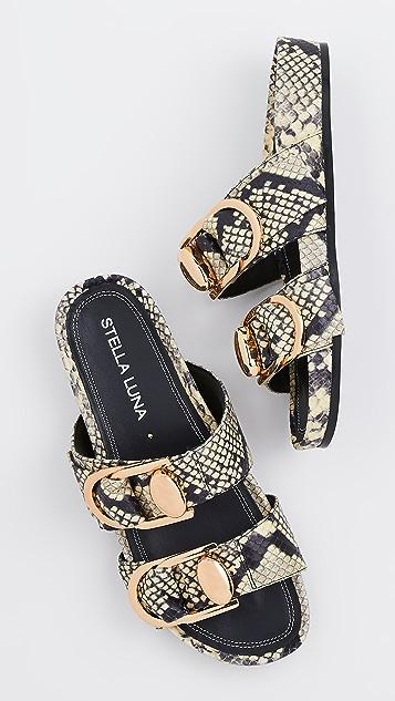 Stella Luna Double Ring Slide Sandals