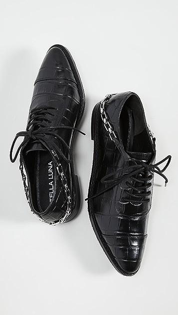 Stella Luna Ботинки на шнурках Stella с цепочкой