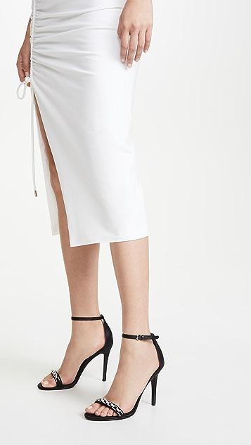 Stella Luna 水晶链条凉鞋