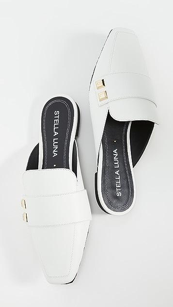 Stella Luna Stella 纽扣穆勒鞋