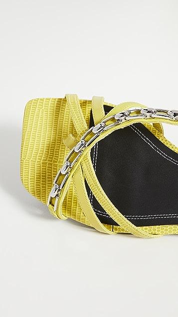 Stella Luna Strappy Chain Sandals