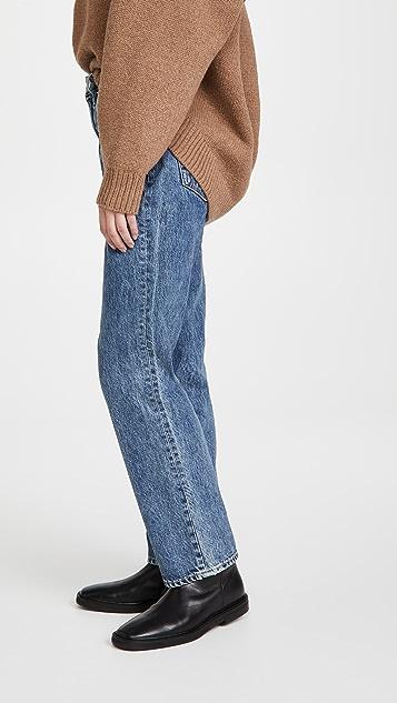 SLVRLAKE Dakota 休闲高腰锥形牛仔裤