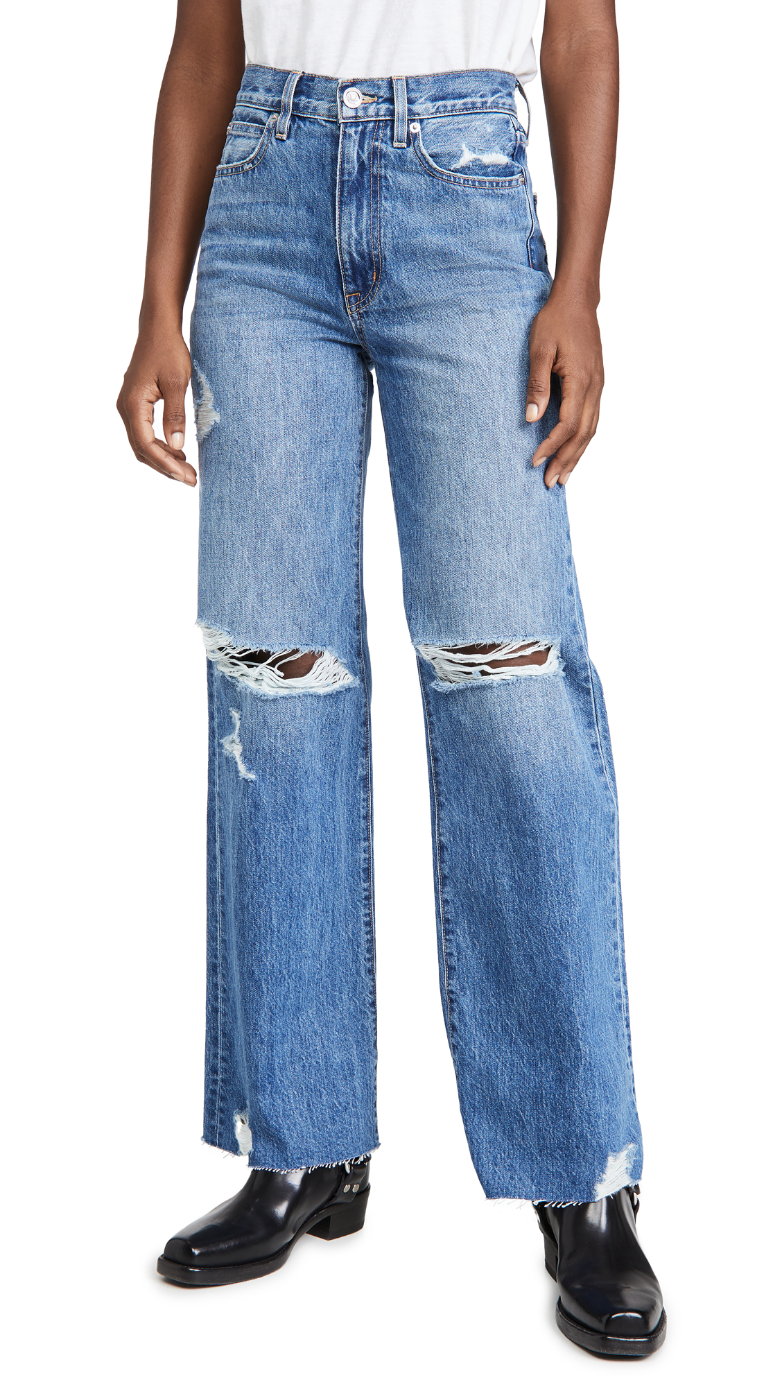 SLVRLAKE Grace High Rise Wide Leg Jeans