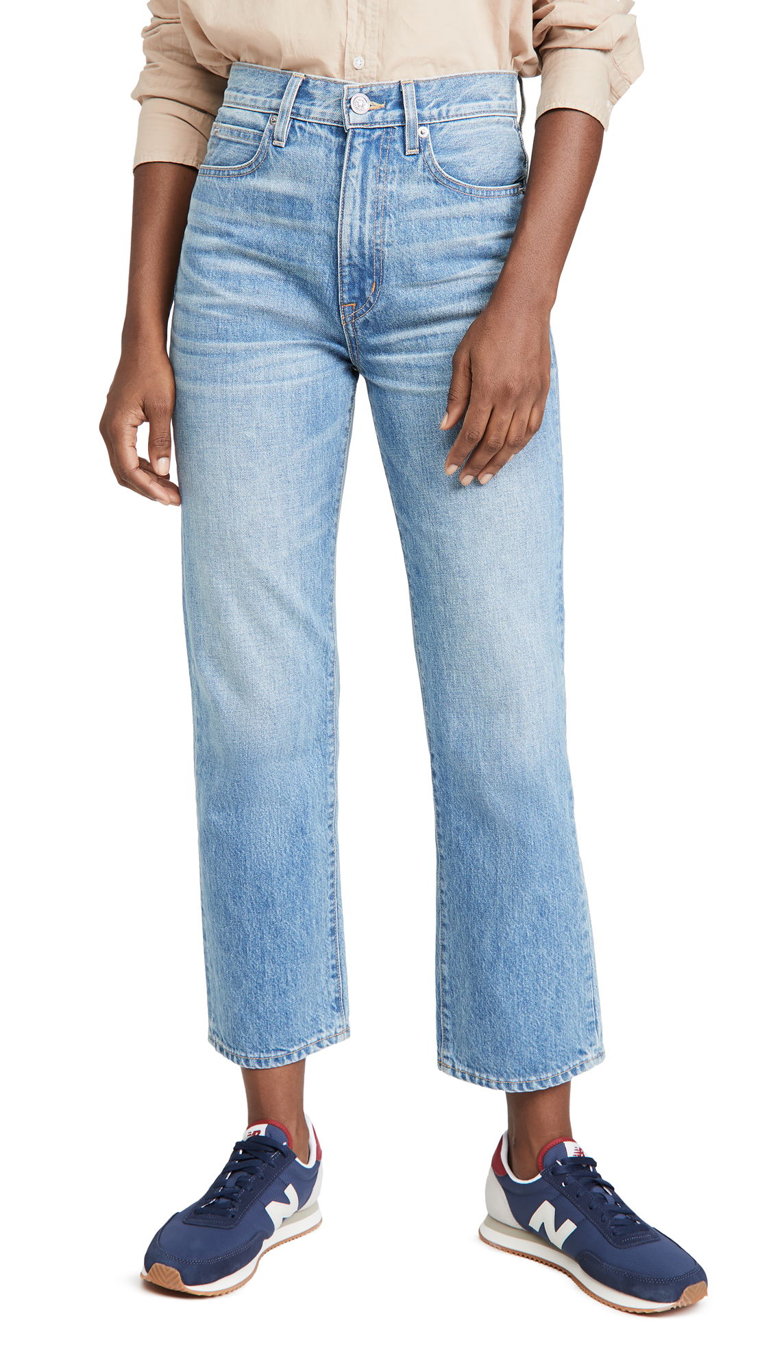 SLVRLAKE London Crop High Rise Straight Leg Jeans