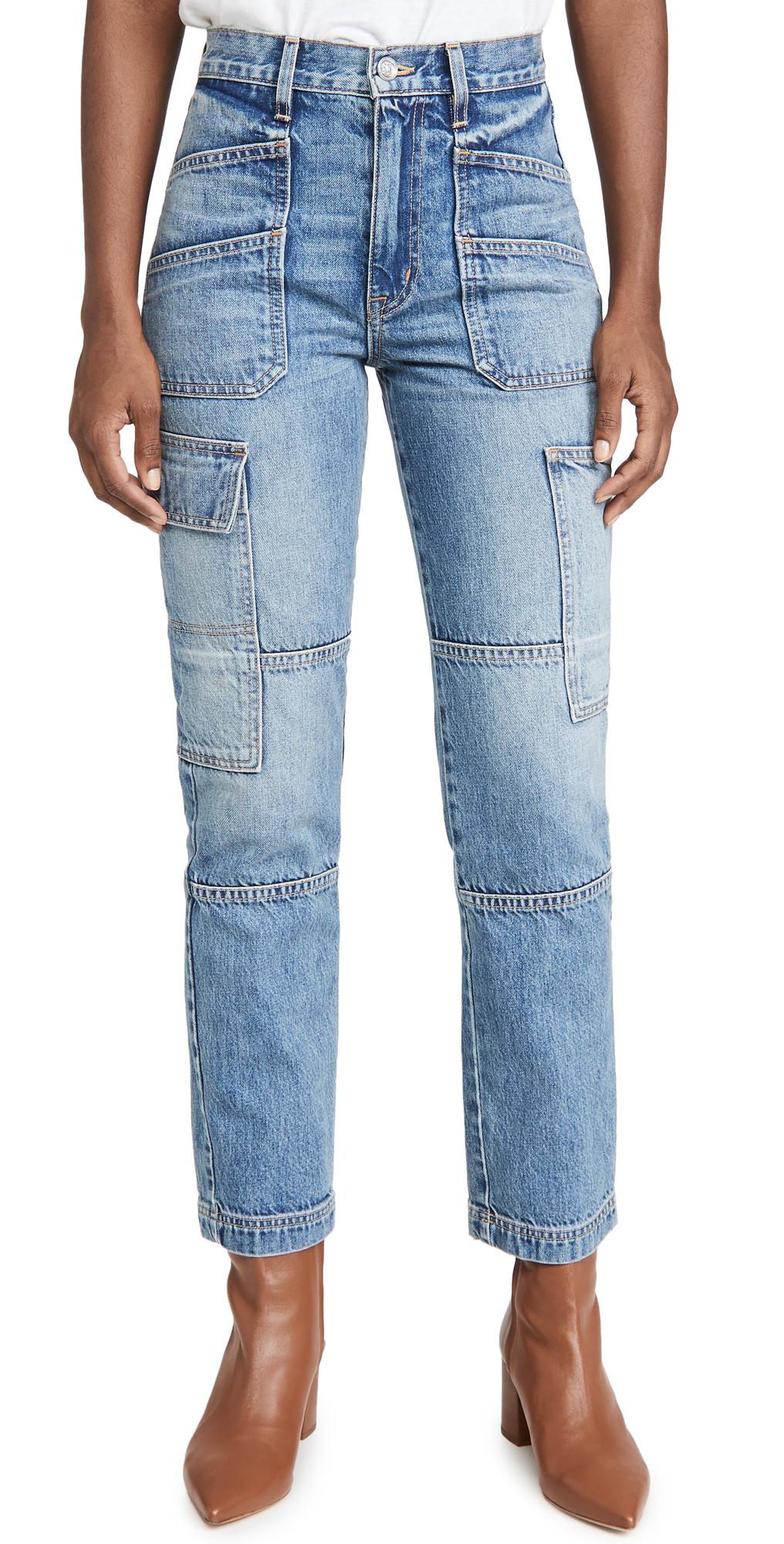 SLVRLAKE Savior High Rise Straight Cargo Jeans