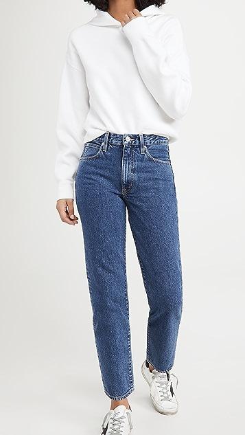 SLVRLAKE Sophie Mid Rise Straight Leg Jeans