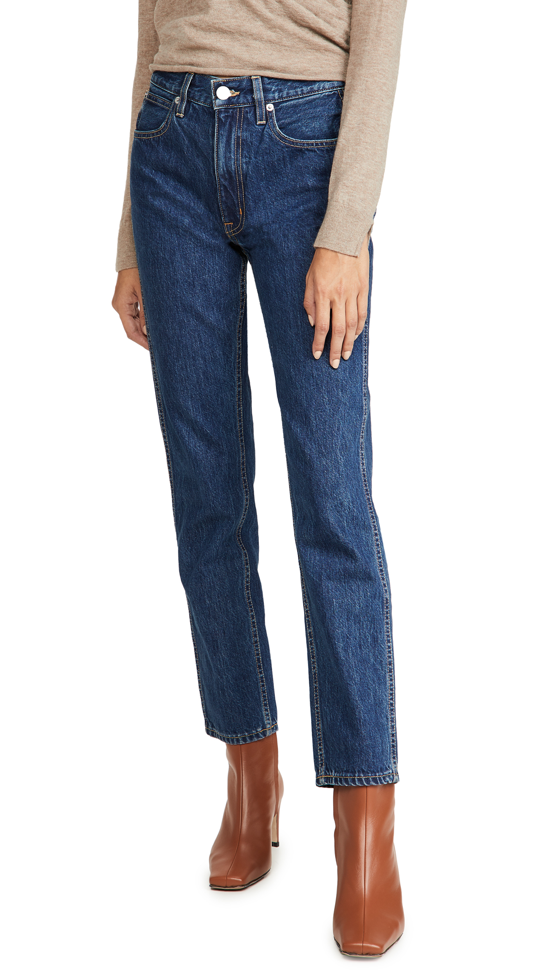 SLVRLAKE Virginia High Rise Tapered Leg Jeans