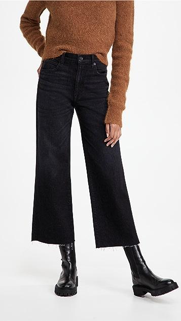 SLVRLAKE 优雅高腰九分阔腿牛仔裤