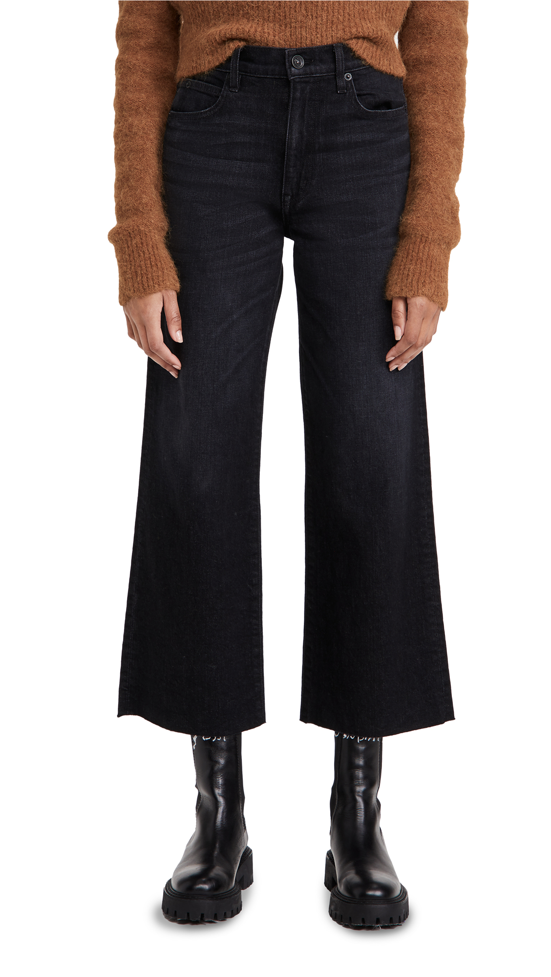 SLVRLAKE Grace Crop High Rise Ankle Wide Leg Jeans