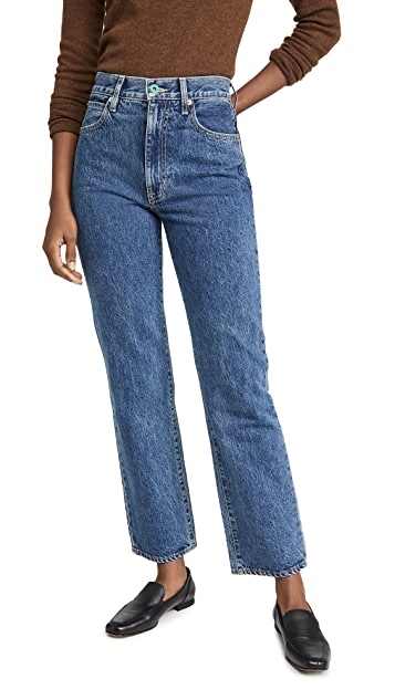 SLVRLAKE London High Rise Straight Jeans